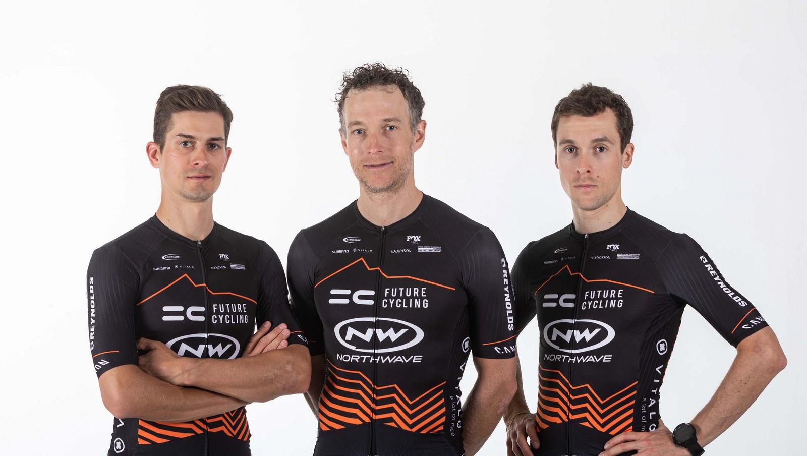 I membri del team Future Cycling - Northwave: Hynek, Stosek e Buksa