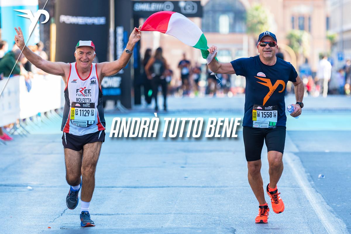 Una coppia di runner durante la passata edizione della BARI21, tra le tante gare del circuito FYP organizzato dalla società Follow Your Passion