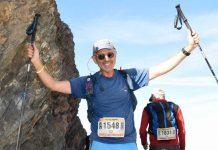 Doug Mayer in un'immagine di Will Thomas a pochi chilometri dall'arrivo a Courmayer nei pressi del Col de Malatrà, durante il suo TORX del 2019.