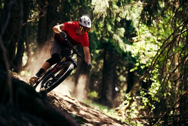 Fox Speedframe - action Morzine