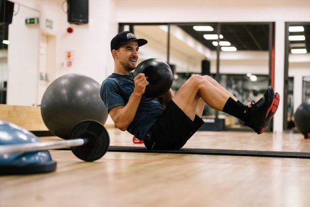 Nino Schurter - gym training