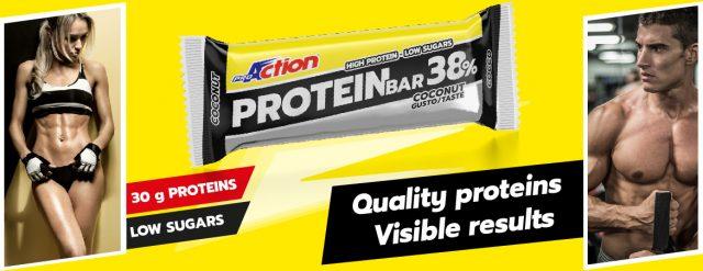La barretta energetica Protein Bar 38% di ProAction