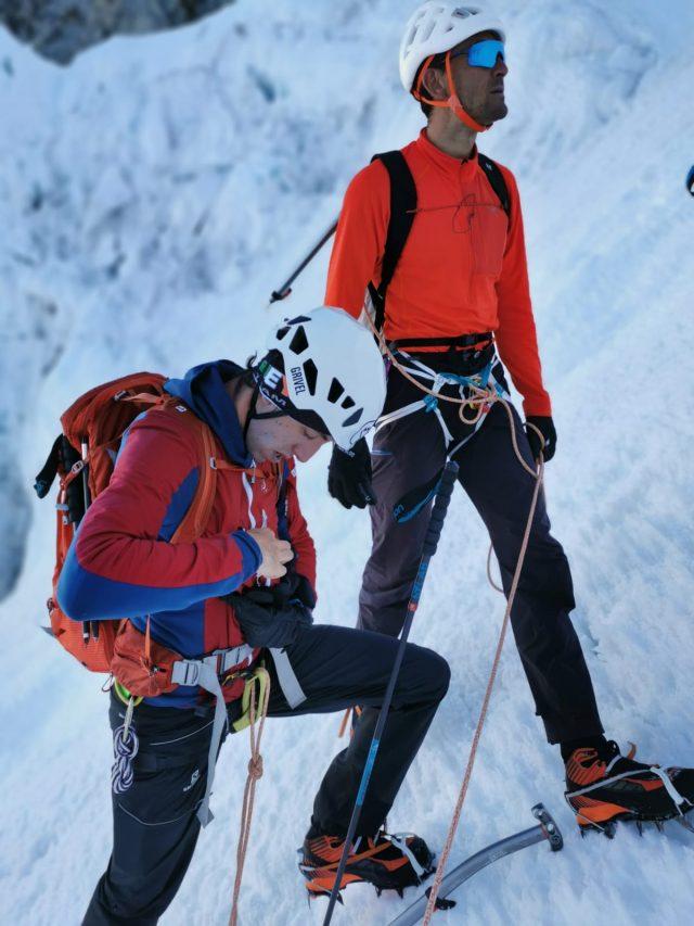 Pietro e Davide durante una giornata di preparazione alla 4x4000
