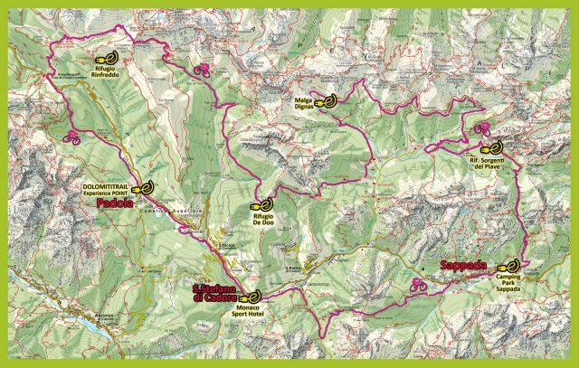 DolomitiTrail E-Bike Experience - cartina