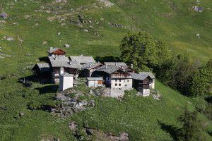 L'abitato di Alpenzu Grande a Gressoney-Saint-Jean nella foto di Enrico Romanzi
