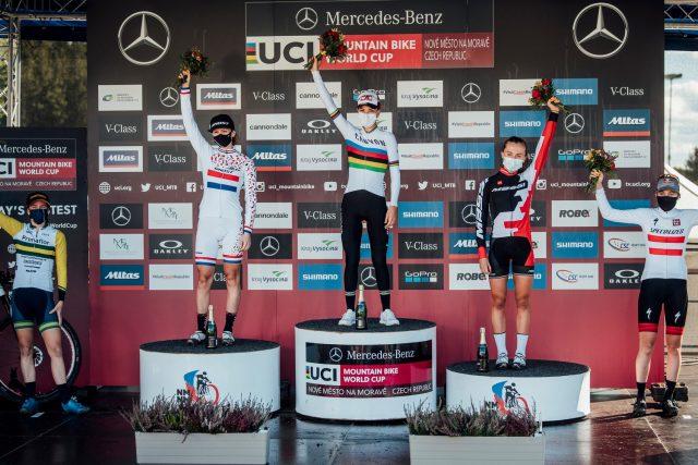 Nove Mesto 2020 XCO #2 - podio Elite Women