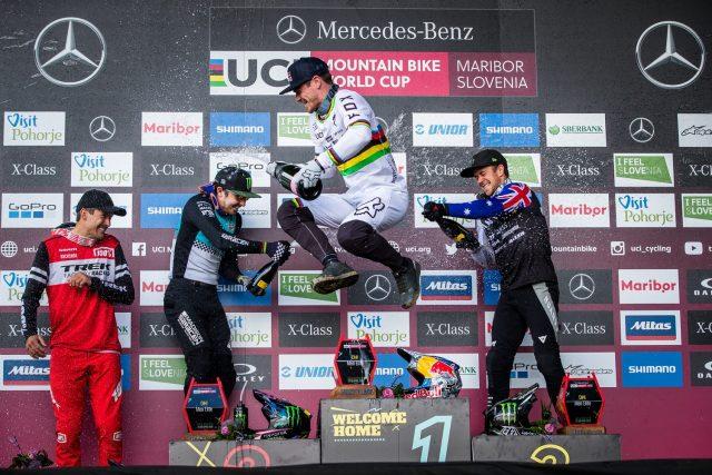 World Cup DH Maribor 2019 - podio Elite Men
