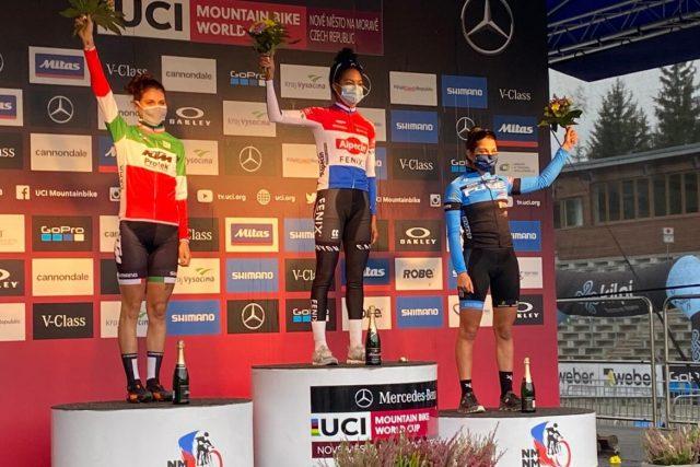 World Cup XCO Nove Mesto 2020 - podio XCO U23 Women #2