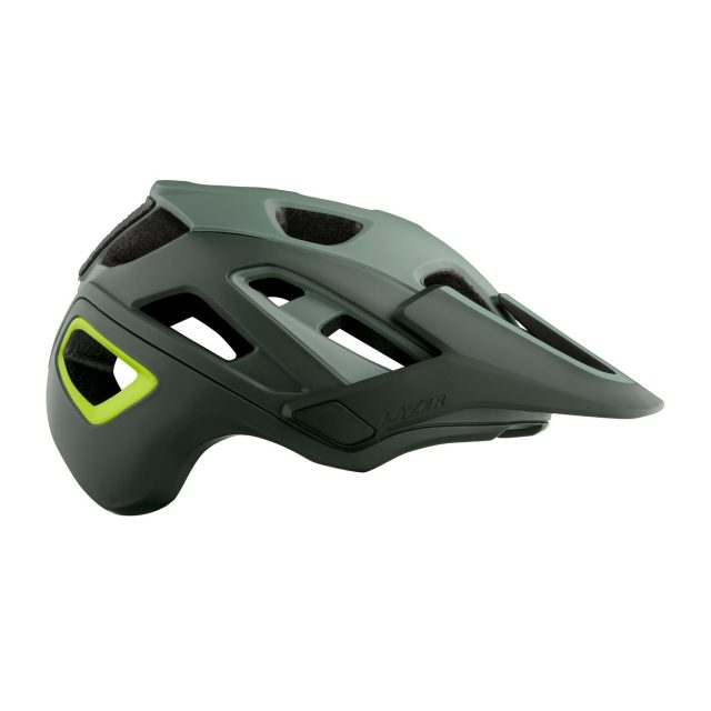 Lazer Jackal - Matte Dark Green Flash Yellow