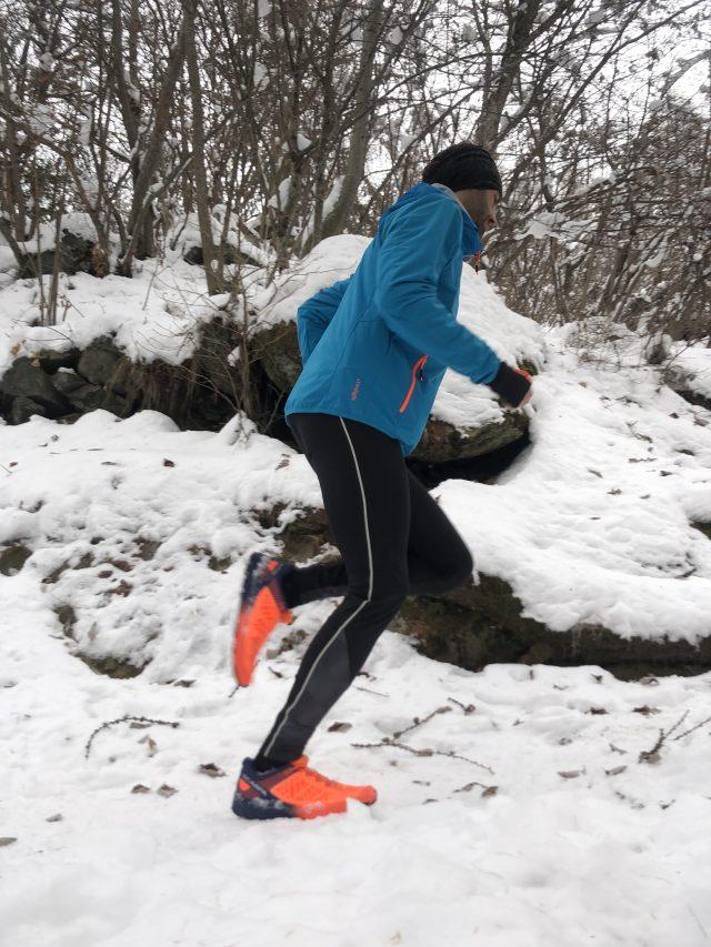 Nei tratti in salita il grip della suola Vibram Megagrip Litebae è eccezionale anche su neve