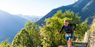 Sébastien Camus in piena azione durante l'ultima edizione del Ultra Trail de la Còte d'Azur Mercantour
