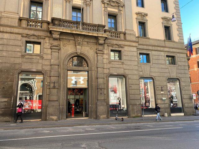 la facciata esterna della Under Armour Brand House