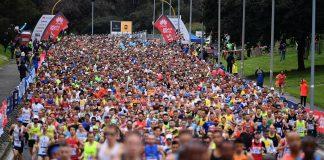 Nella foto di Alfredo Falcone / La Presse la 45esima edizione della RomaOstia Half Marathon che fa parte della ROMA VIRTUAL 2021