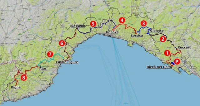 Alta Via Stage Race 2021 - Percorso