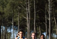 Pietro Riva in azione alla ASICS BE(AT) Your Personal Best