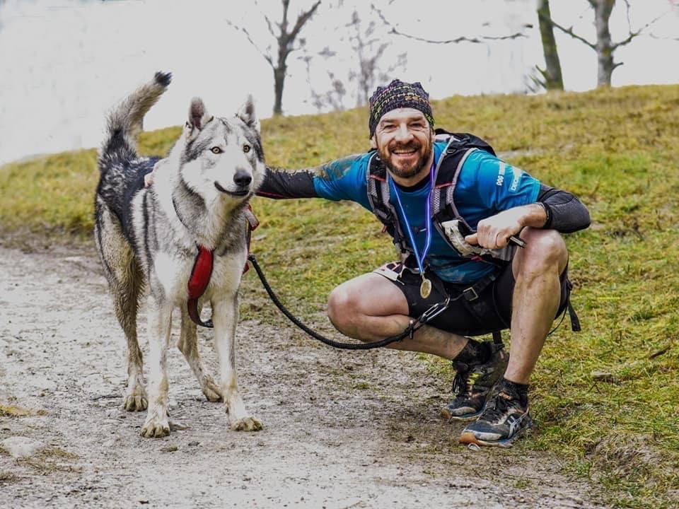 Sky del Canto il Campionato italiano Dog Trail Csen