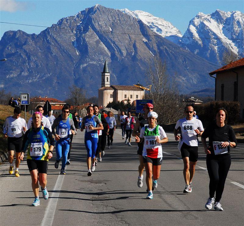 Una delle fasi di gara di una delle precedenti edizioni. Per iscriversi: www.bellunofeltrerun.it