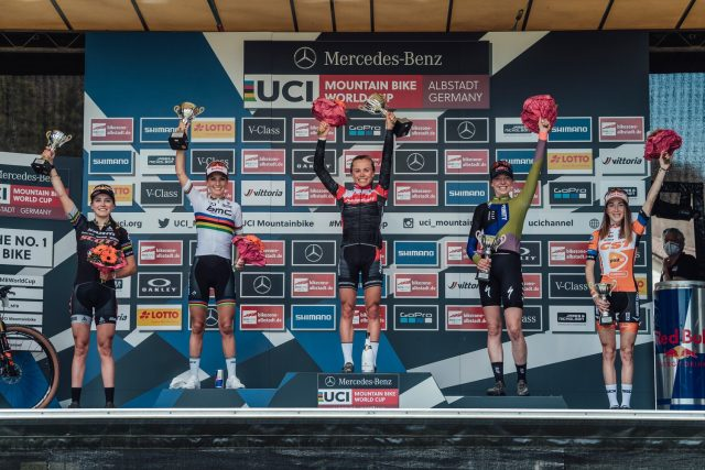 World Cup MTB Albstadt 2021 - podio Elite Women
