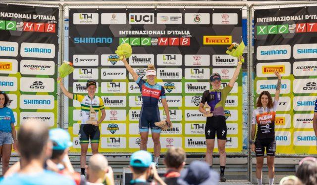 La Thuile XC 2022 - podio elite women