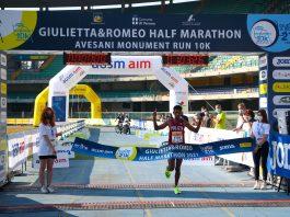 14^ Giulietta&Romeo Half Marathon a Eyob Faniel, vincitore autorevole in preparazione Tokio 2020