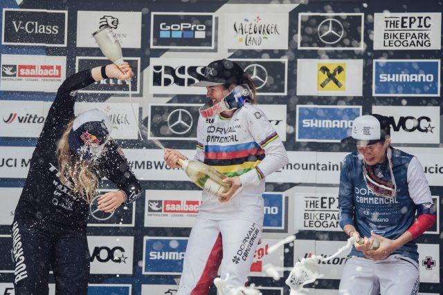 World Cup DH Leogang 2021 - podio Elite Women