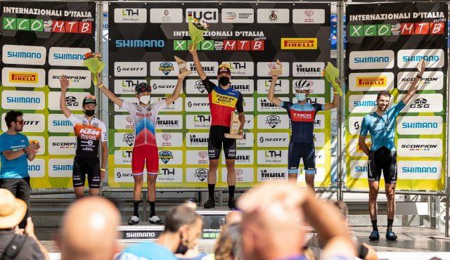 La Thuile XC 2022 - podio elite men