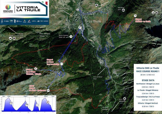 EWS La Thuile 2021 preview - percorso round 1