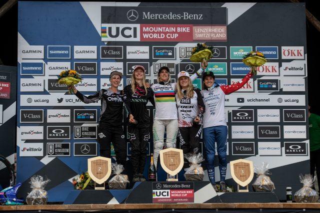 Lenzerheide World Cup DH 2021 - podio femminile