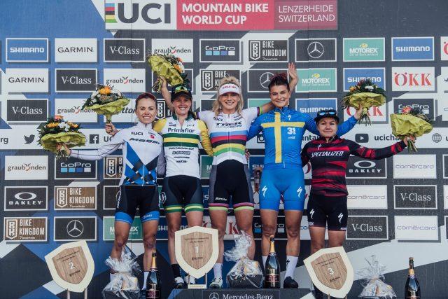 Lenzerheide - podio xco elite women