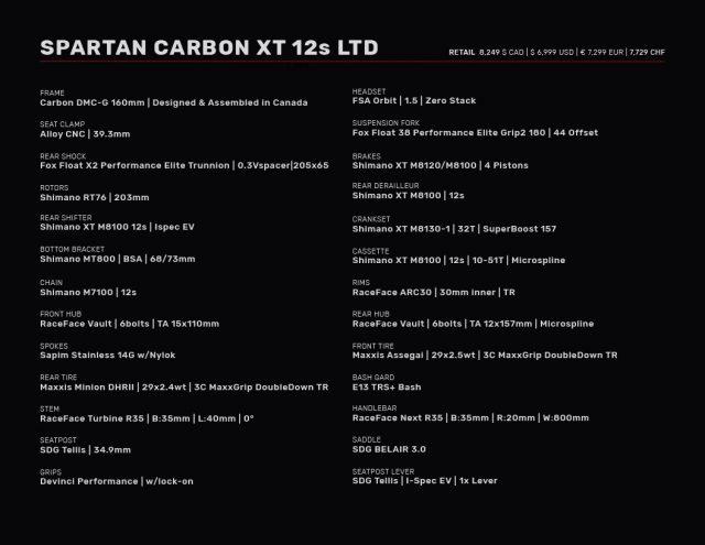 Spartan HP XT setup
