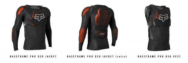Fox Baseframe Pro D3O