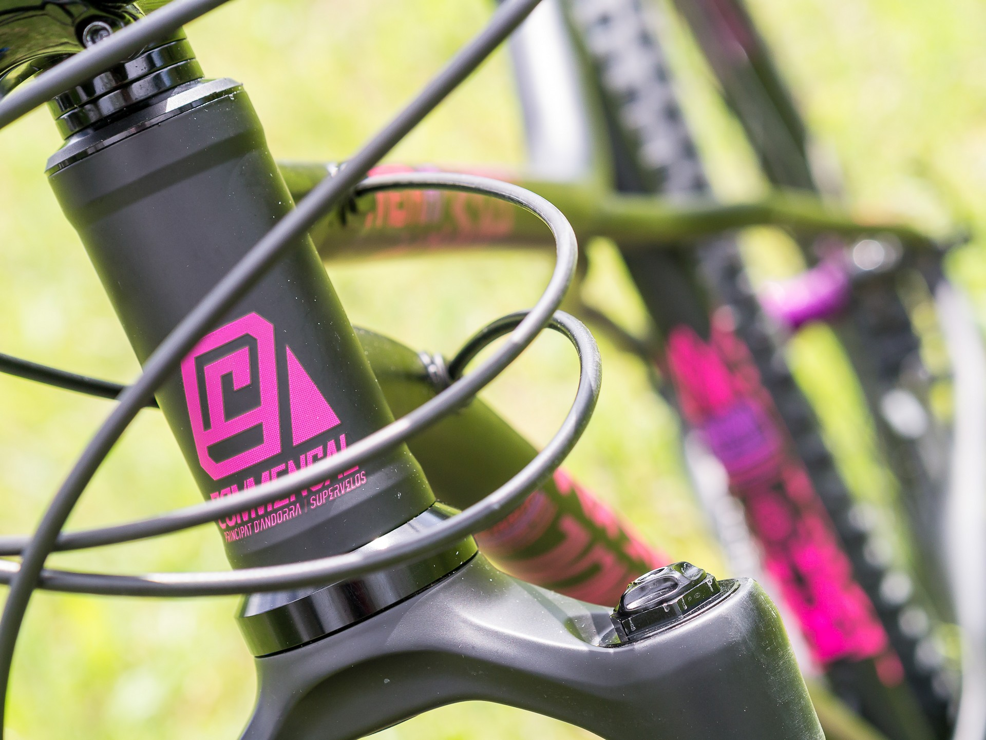 Commencal Meta HT AM CrMo 650B Purple - sterzo