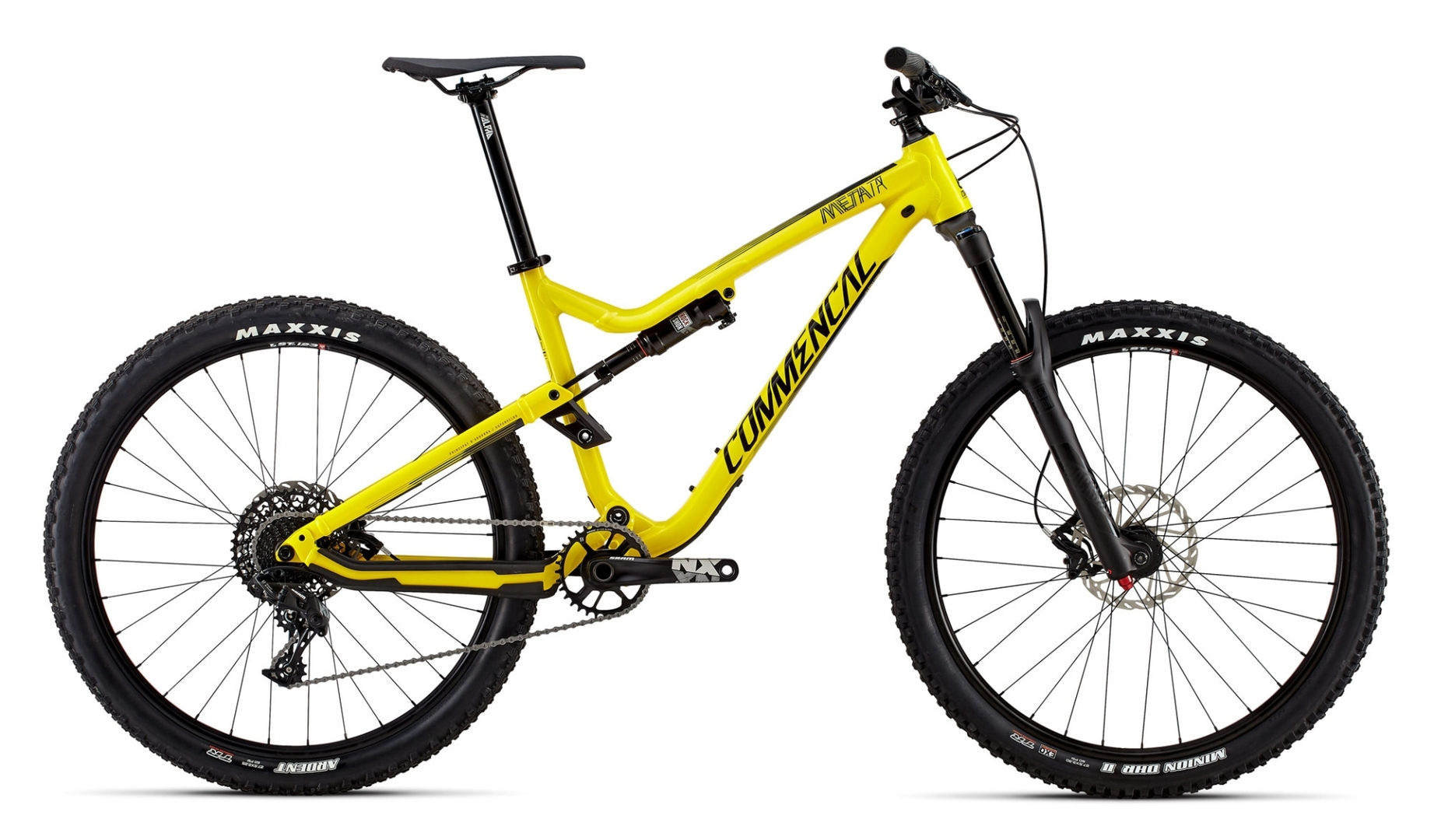 Commencal Meta TR V4.2 Origin Yellow - side